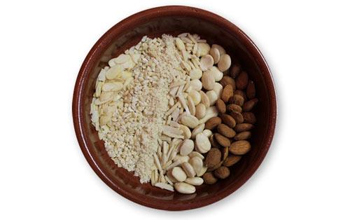 Processed almonds